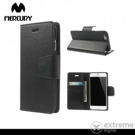 Кожен калъф Mercurycase Mercury Goospery за  Apple iPhone 6 4.7``черен