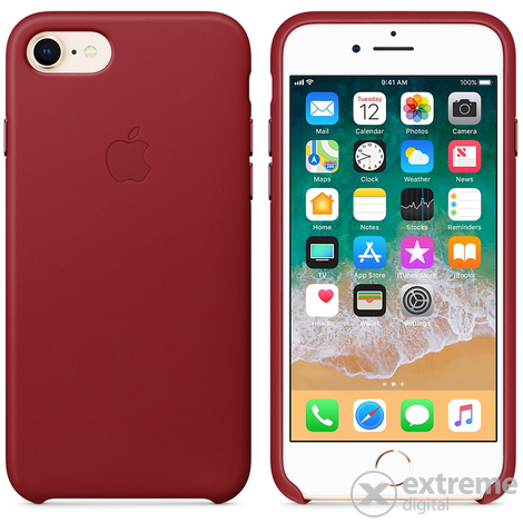 Apple iPhone 8 / 7 bőrtok, (PRODUCT)RED (mqha2zm/a)