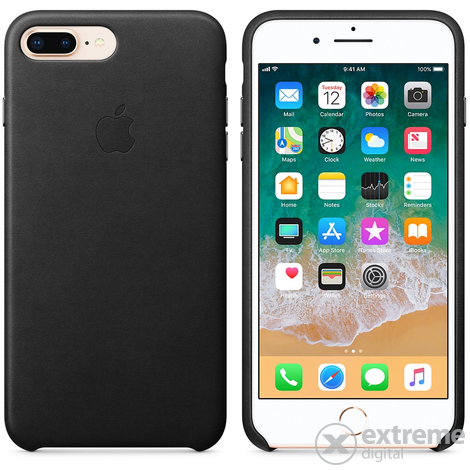 Apple iPhone 8 Plus / 7 Plus bőrtok, fekete (mqhm2zm/a)