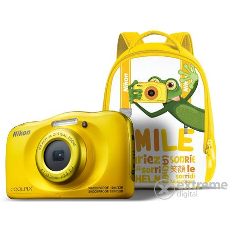 aa8cad3726f2 Nikon Coolpix W100 fényképezőgép, sárga + hátizsák   Extreme Digital