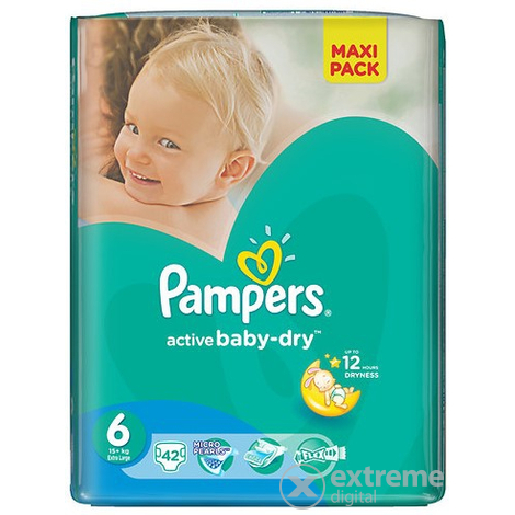 Пелени Pampers Active Baby-Dry  6 Extra Large 42 бр.