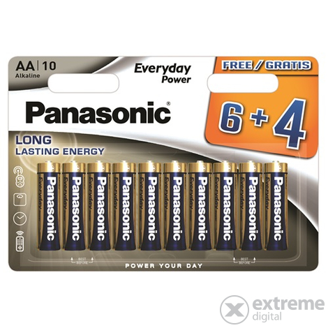 Panasonic Everyday Power LR6EPS-10BW6-4F AA alkáli elem (10db)