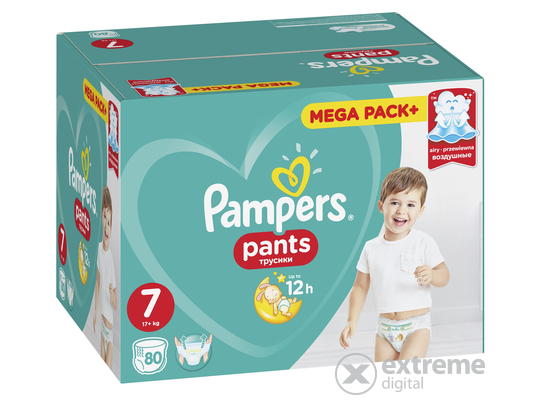 Pampers Premium Megabox nadrágpelenka 8-as méret, 80 db