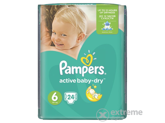 Pampers Active Baby Carry pack Pelenka 6 Extra Large 24 db