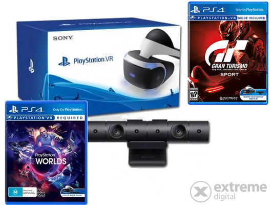 83e6f748e PlayStation VR set s VR V2 kamerou, Gran Turismo Sport a VR Worlds hrami ( PS4)