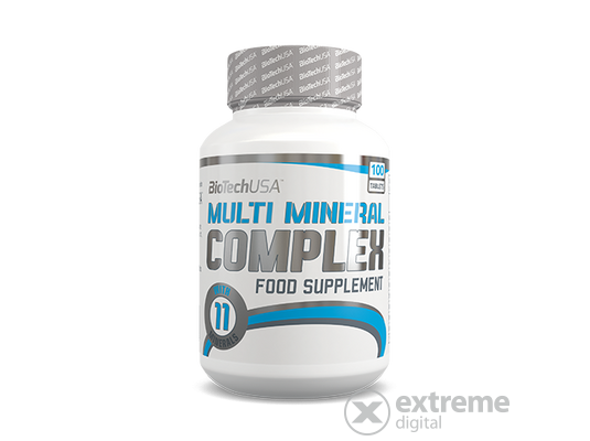 BioTech USA Multi Mineral Complex, 100 tabletta, vitamin
