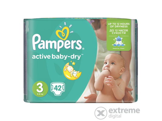 Pampers Active Baby Carry pack pelenka midi 42 db