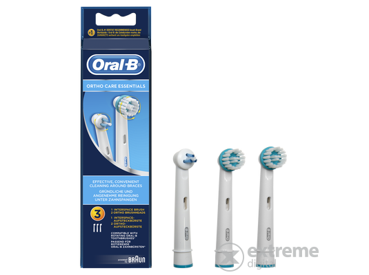 Oral-B OD 17 Ortho Care pótfej 3 db