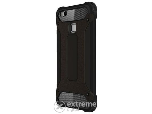 31222129a9d0 Gigapack Defender műanyag tok, fémhatású, Huawei P9 lite (2016)  készülékhez, fekete