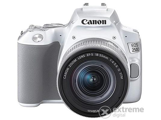 ef88a2d117e8 Canon EOS 250D DSLR fényképezőgép kit (EF 18-55mm IS STM objektívvel), fehér