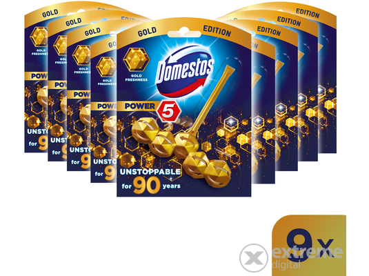 DOMESTOS Power5 Gold Freshness WC frissítő blokk 9x55 g