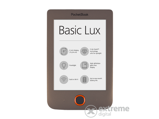PocketBook Basic Lux 615 eBook olvasó, sötétbarna
