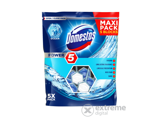 Domestos Power5 WC-rúd, Ocean (5x55g)