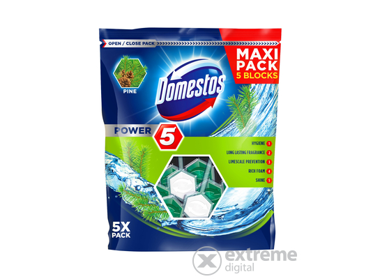 Domestos Power5 WC-rúd, Pine (5x55g)
