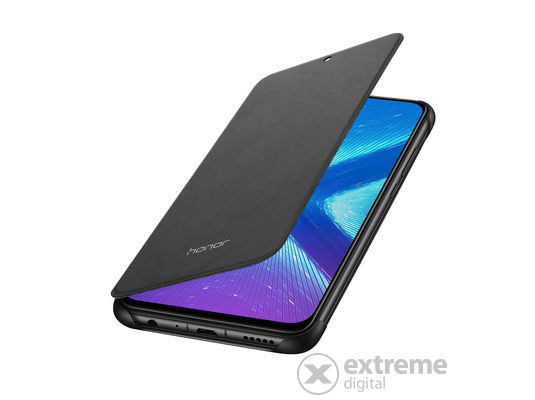 Honor 8X Flip Cover tok, fekete