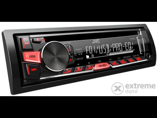 JVC KD-R469 USB/CD autóhifi fejegység, piros-zöld gombmegvilágítással