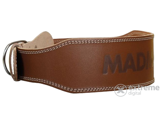 Madmax Full Leather bőr öv, csoki barna, S