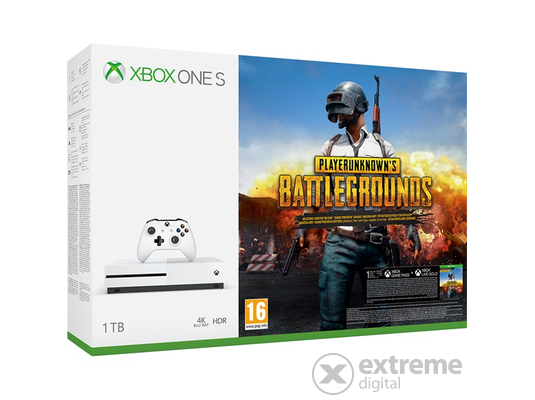 Xbox One S 1TB konzol, fehér + Playerunknown`s Battleground