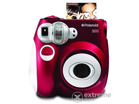 Polaroid 300 instant fényképezőgép, piros