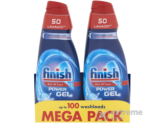 Finish All in One mosogatógél, 2x1000ml