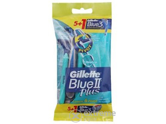 Gillette Blue II Plus + Blue 3 eldobható borotva (5+1db)