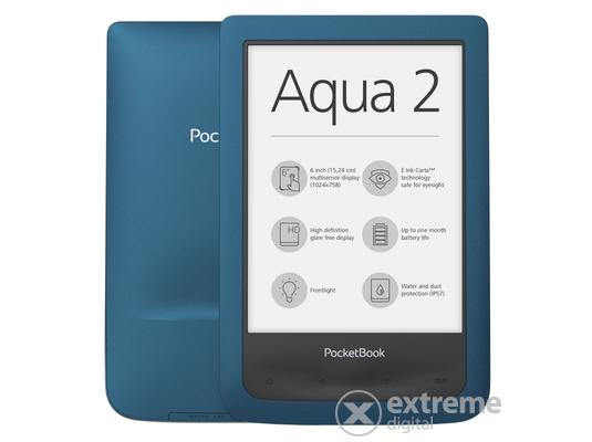 PocketBook 641 Aqua 2 vízálló eBook olvasó, azúrkék