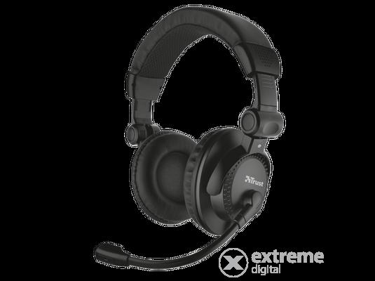 Sennheiser PC 3 chat mikrofonos fejhallgató, fekete