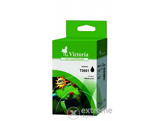 Victoria T0801  St. Photo R265/R360/RX560 fekete tintapatron, 7,4ml
